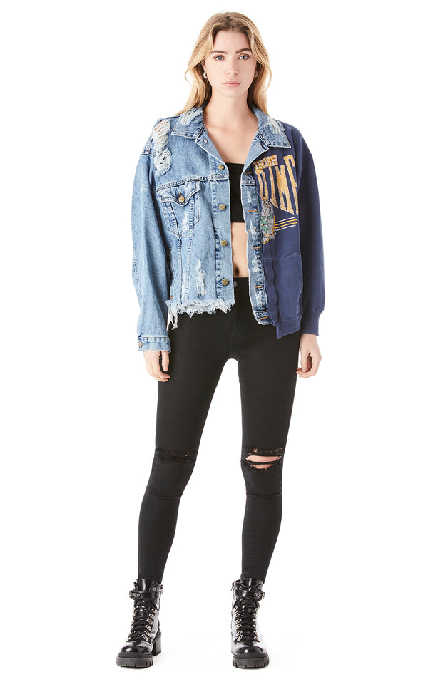 SPLICED VINTAGE DENIM JACKET