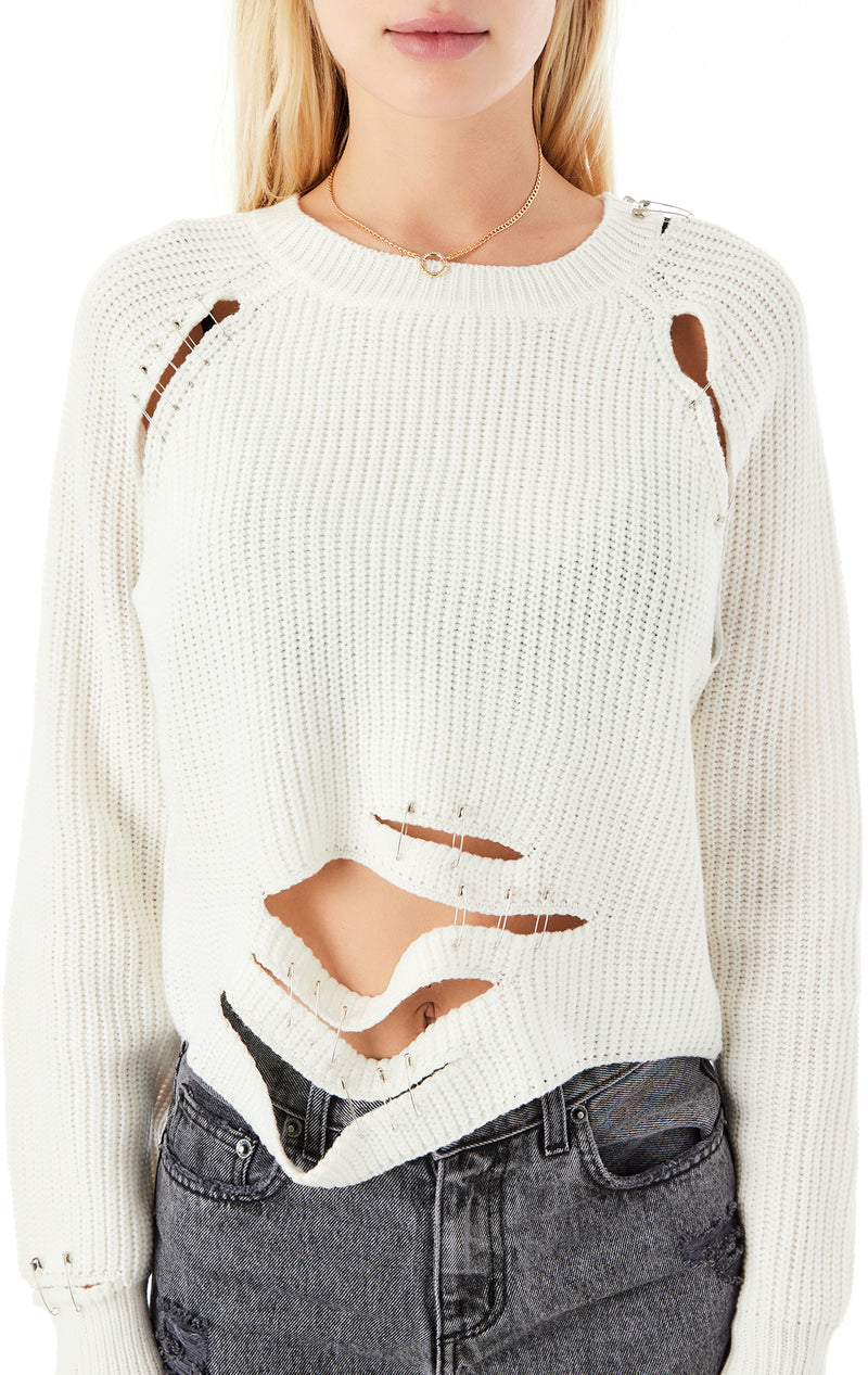 MARNY SAFETY PIN SWEATER