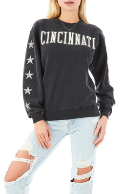 VINTAGE MINI SILVER STAR PATCH SWEATSHIRT