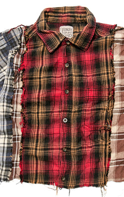 VINTAGE SPLICED CROP FLANNEL