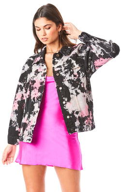 SARDONYX CLOUD TIE DYE DENIM JACKET