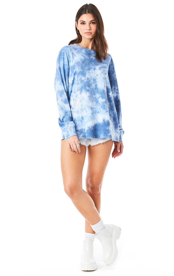 CRYSTAL TIE DYE LONG SLEEVE T-SHIRT