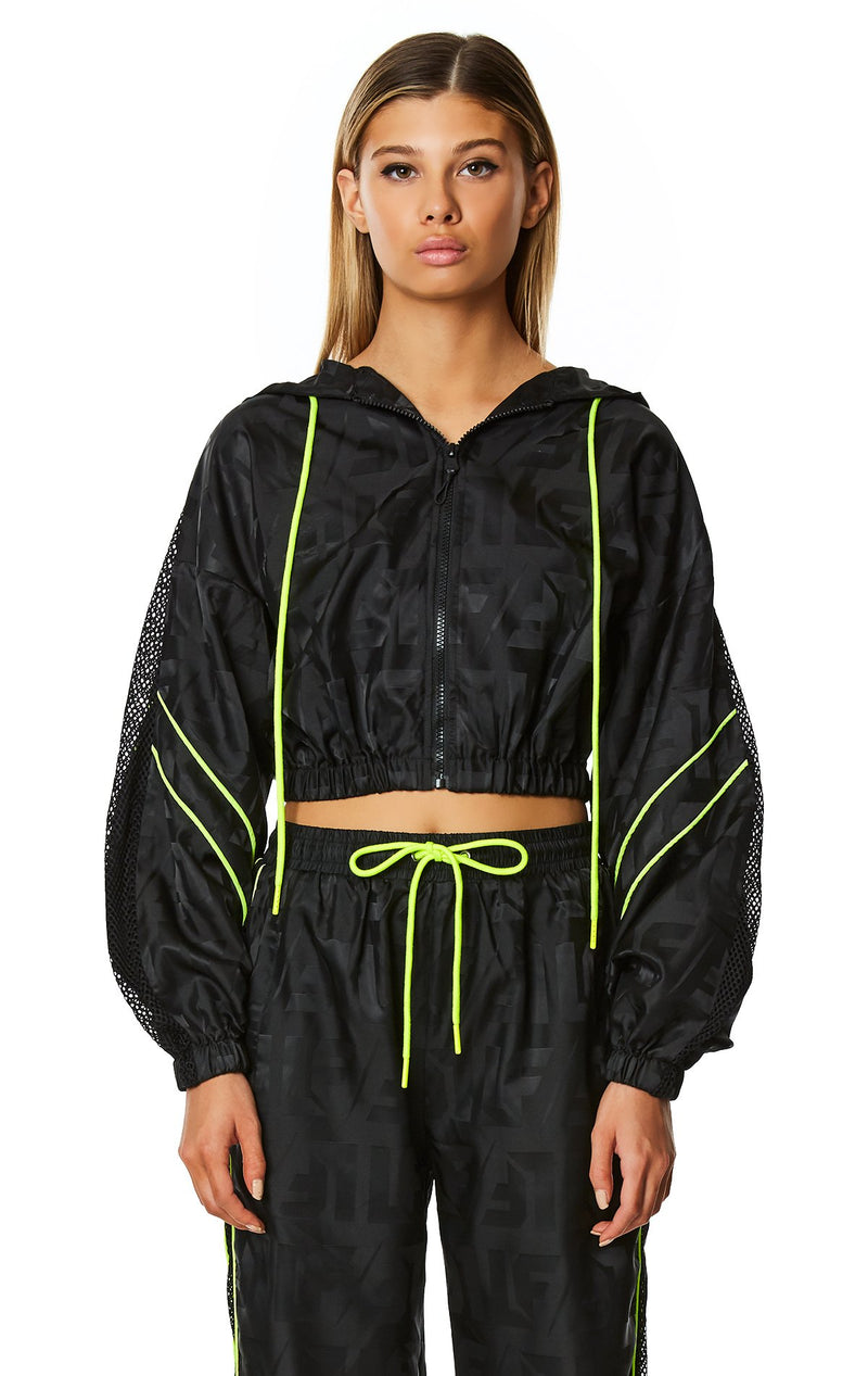 CROP WINDBREAKER JACKET FRONT