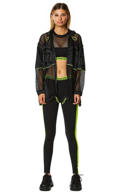 CONTRAST NEON SIDE LEGGING FRONT
