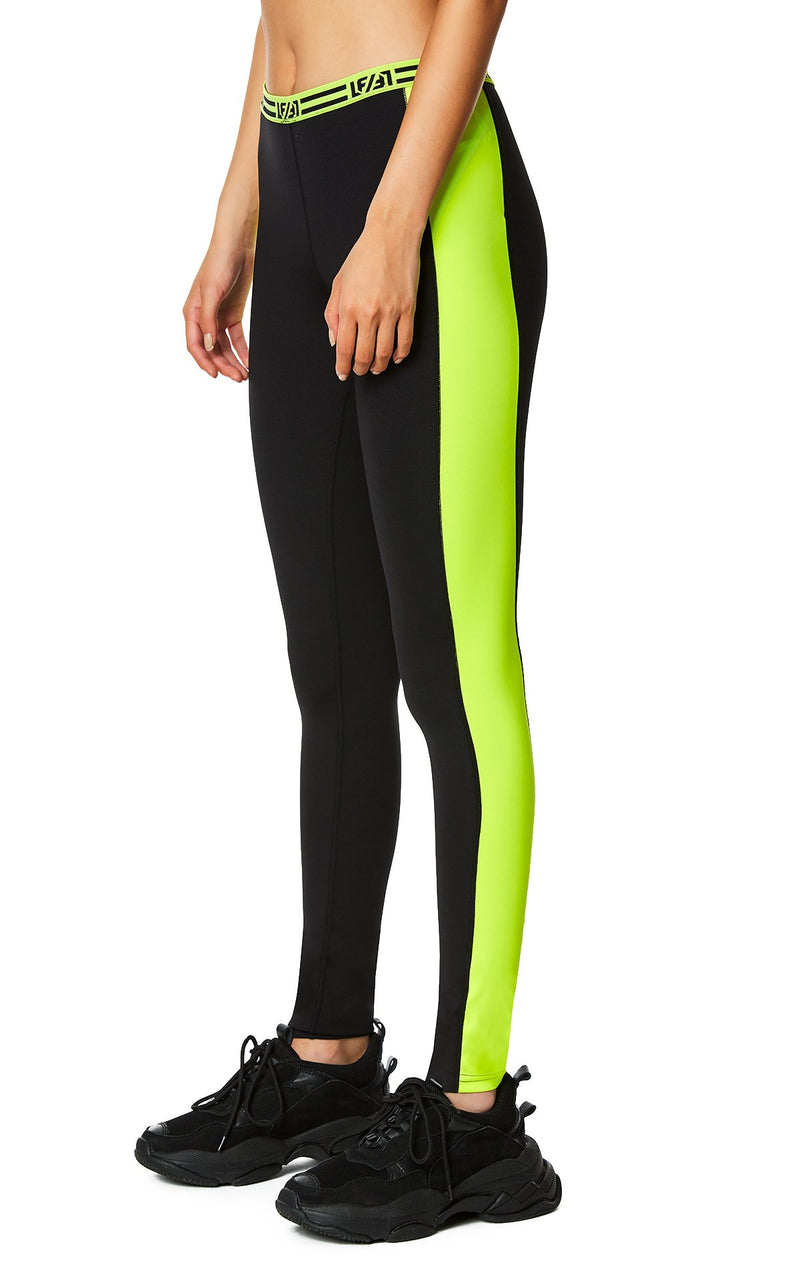 CONTRAST NEON SIDE LEGGING ANGLE DETAIL