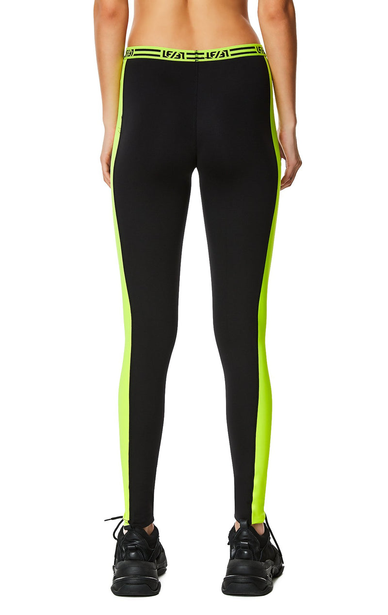 CONTRAST NEON SIDE LEGGING BACK DETAIL