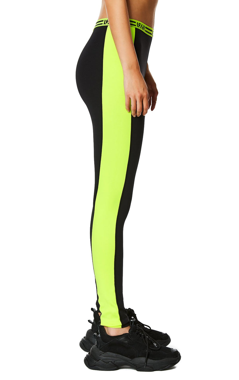 CONTRAST NEON SIDE LEGGING SIDE DETAIL