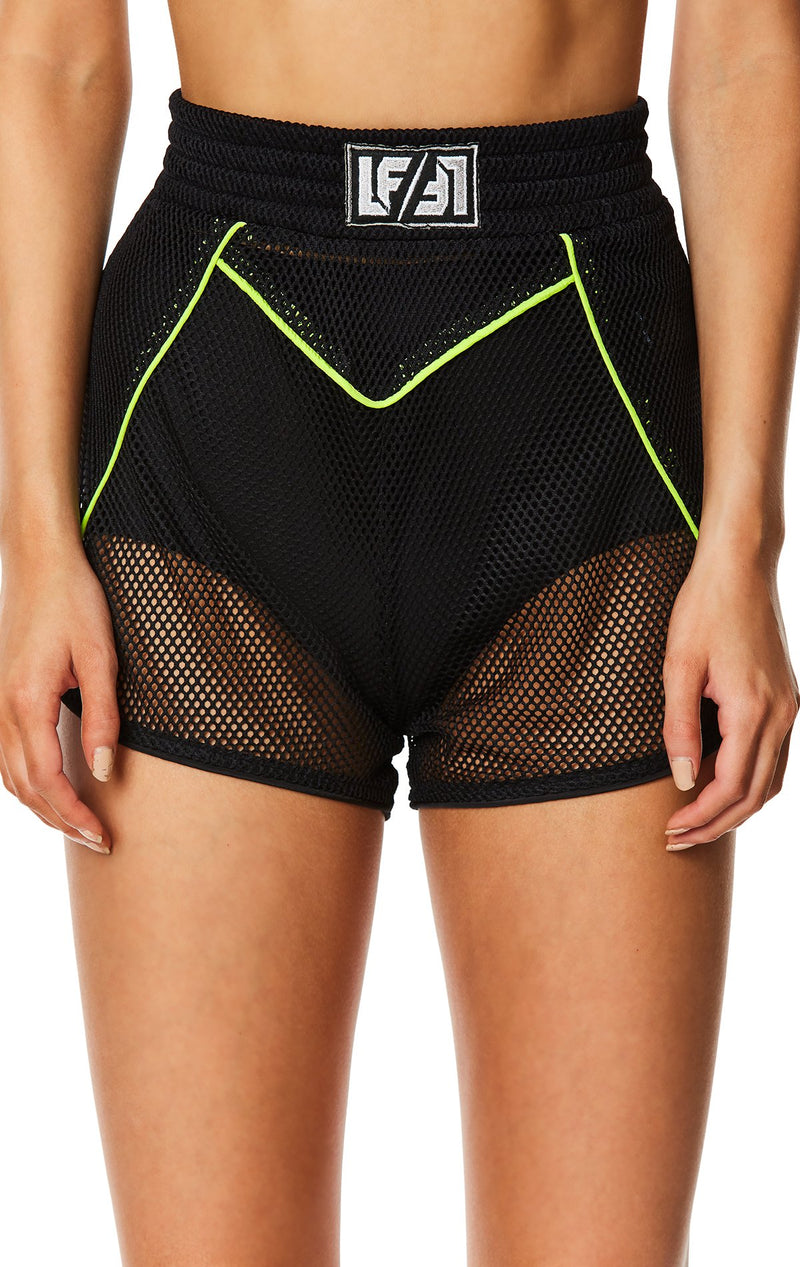 LFTB NETTING SHORT WITH LOGO PATCH