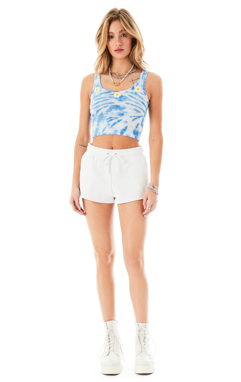 DAISY EMBROIDERED TIE DYE POOR BOY TANK TOP 2