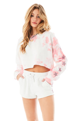 CLOUD TIE DYE STAR PATCH SWEATSHIRT