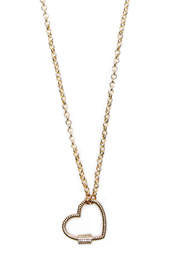 HEART CARABINER NECKLACE