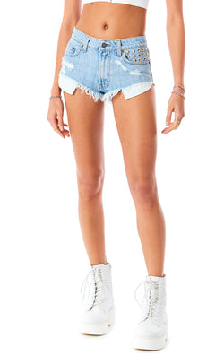 MOGAN CHAROITE DENIM SHORT
