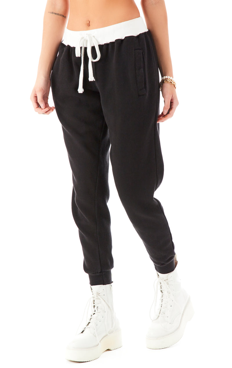 CONTRAST WAISTBAND SWEAPANTS