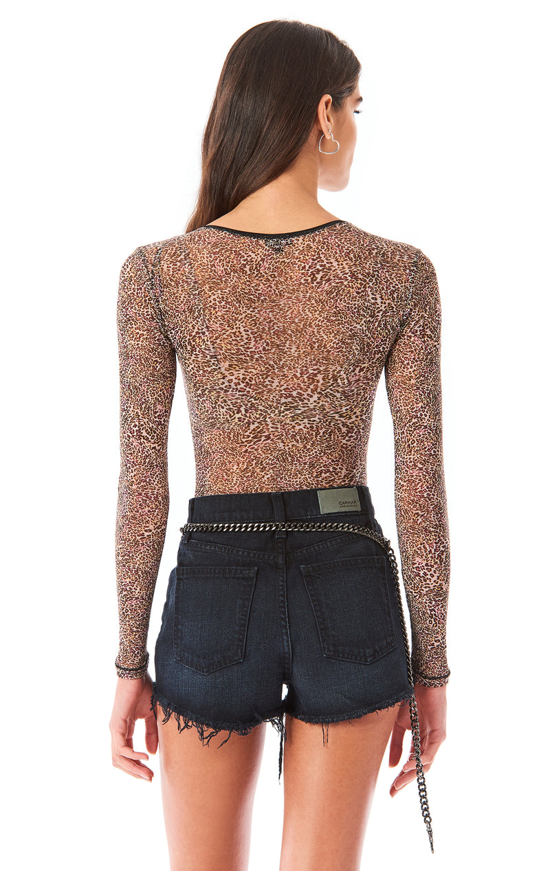 SOIRE ANIMAL PRINT BODYSUIT