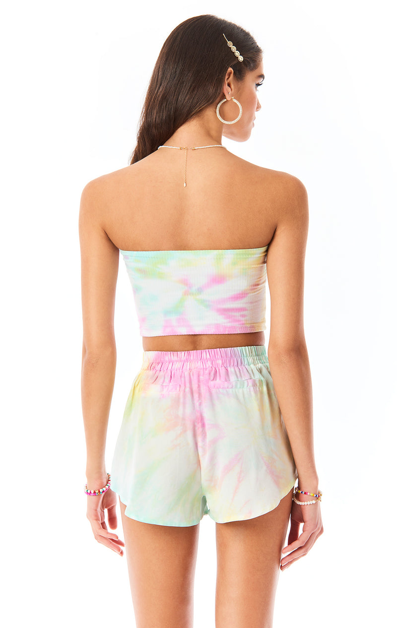 CLOUD TIE DYE TUBE TOP
