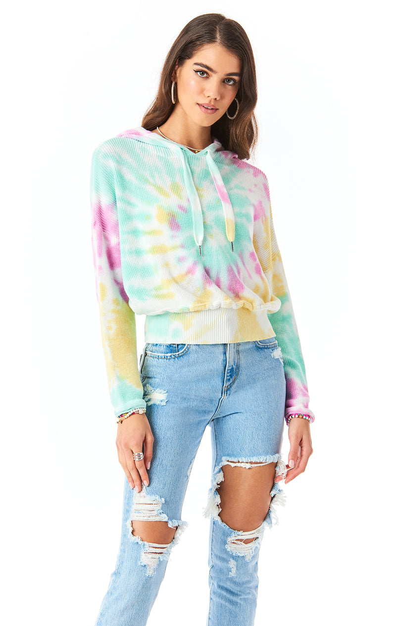 FIREWORK TIE DYE HOODED SWEATER