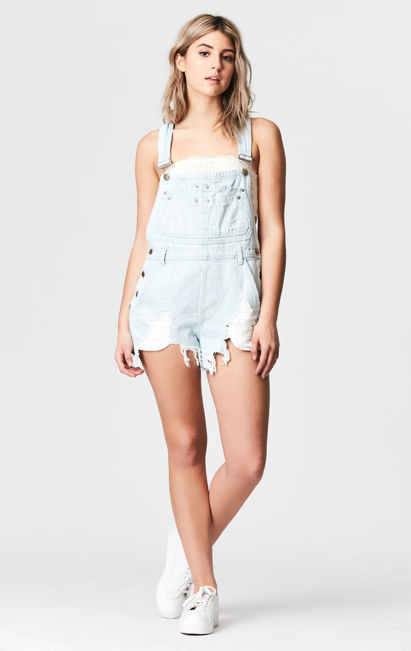 CARMAR DENIM ELARA SHORTALL WITH SHREDDING FRONT
