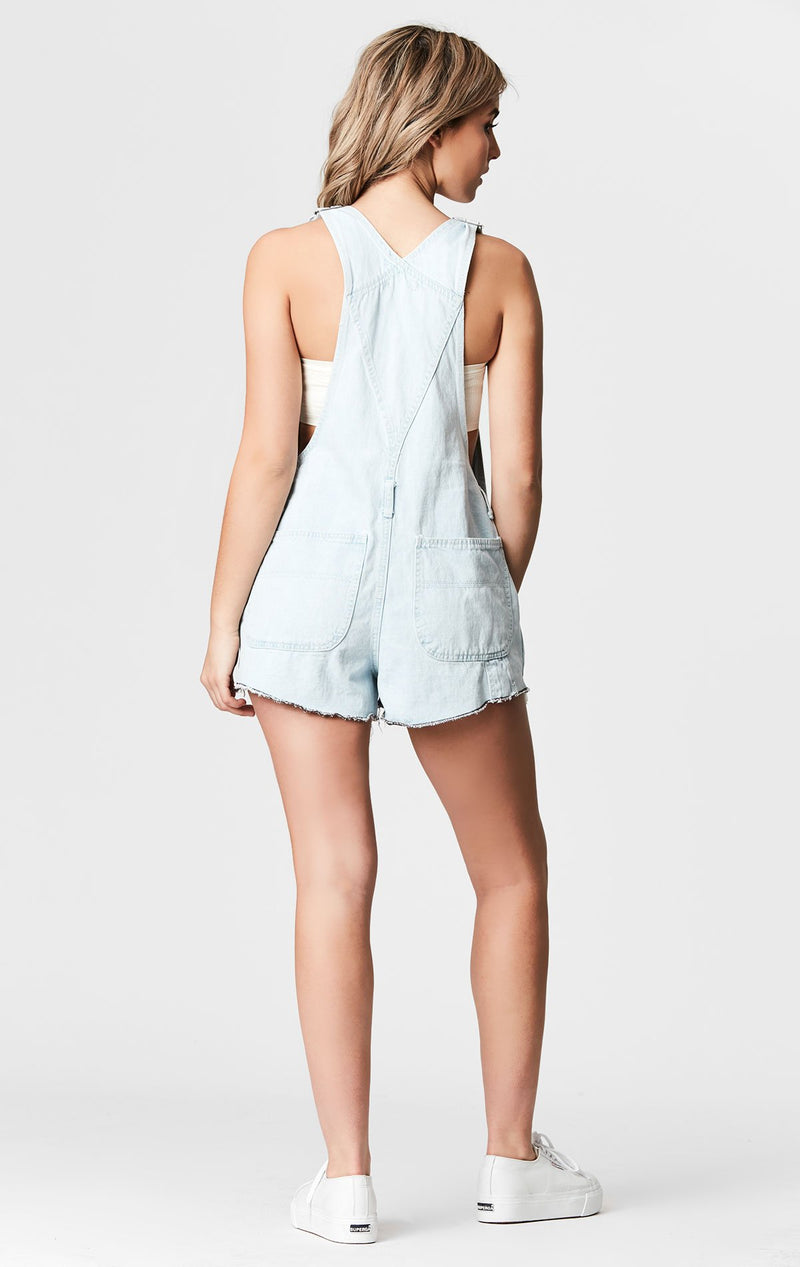 CARMAR DENIM ELARA SHORTALL WITH SHREDDING BACK