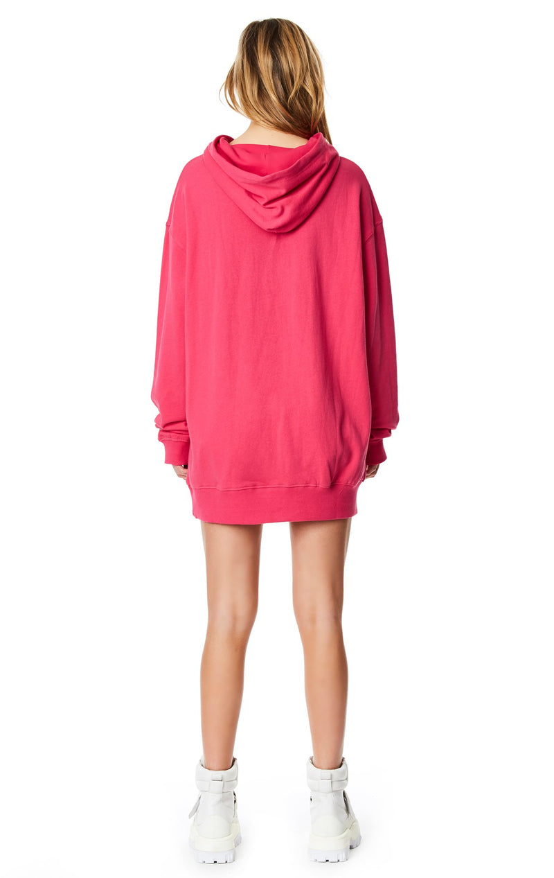 LF THE BRAND HOODED SWEATSHIRT DRESS BACK