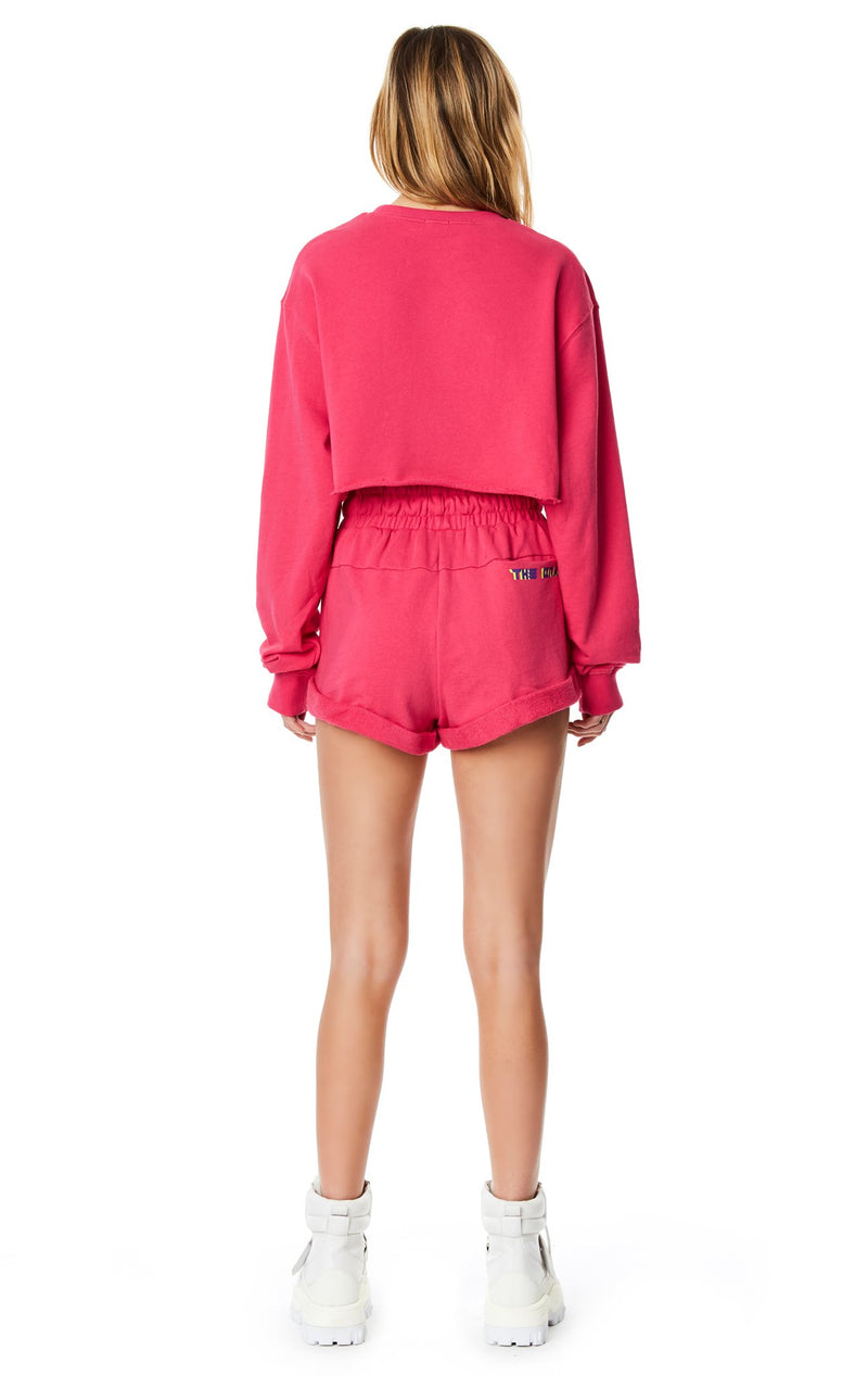 LF THE BRAND CROPPED PULLOVER SWEATSHIRT BACK