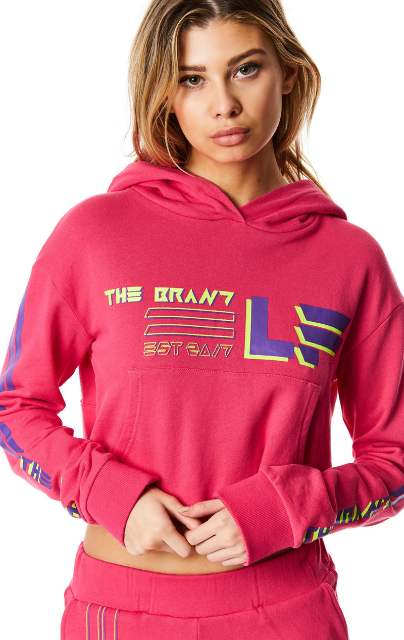 LF THE BRAND CROPPED PULLOVER HOODIE CROP FRONT
