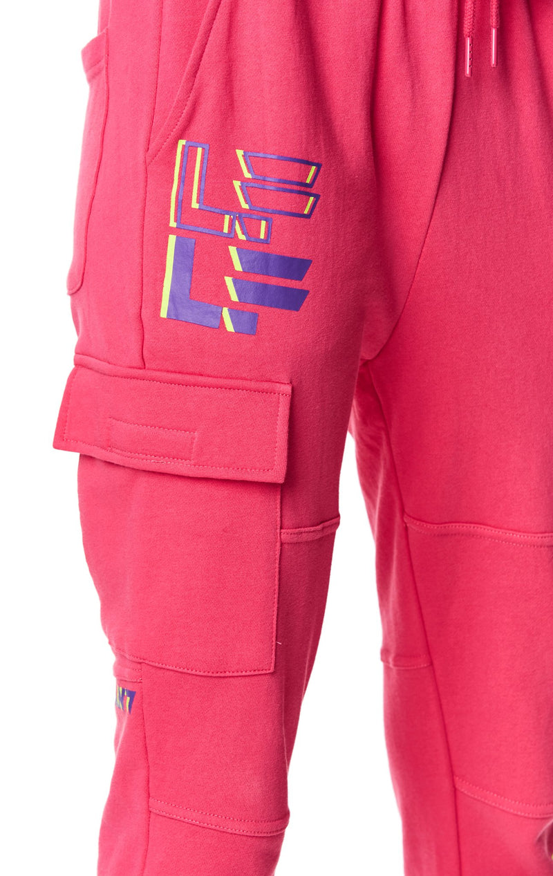 LF THE BRAND CARGO POCKET SWEATPANT ANGLE DETAIL