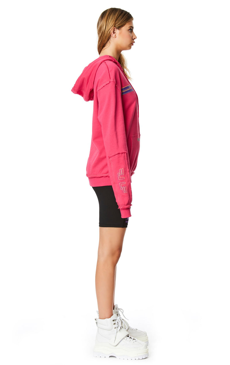 PULLOVER SWEATSHIRT WITH SLEEVE INSERT FULL SIDE