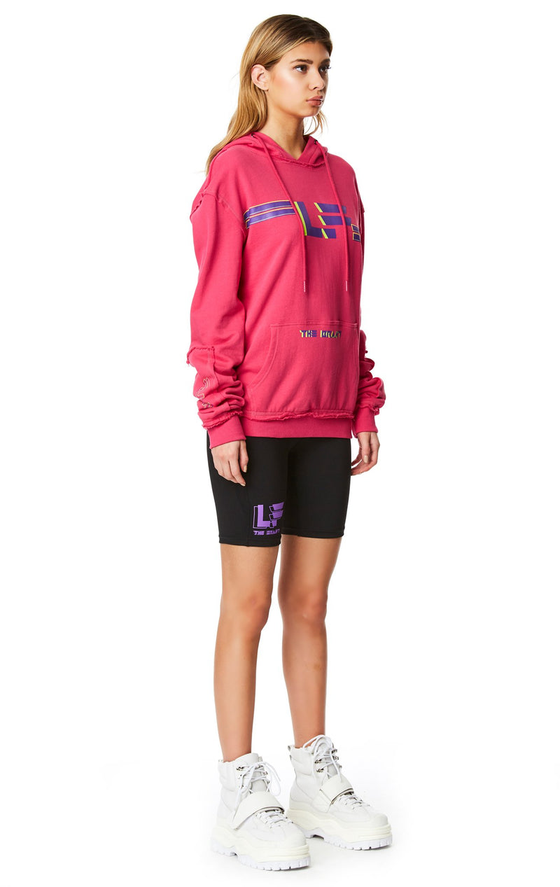 PULLOVER SWEATSHIRT WITH SLEEVE INSERT ANGLE