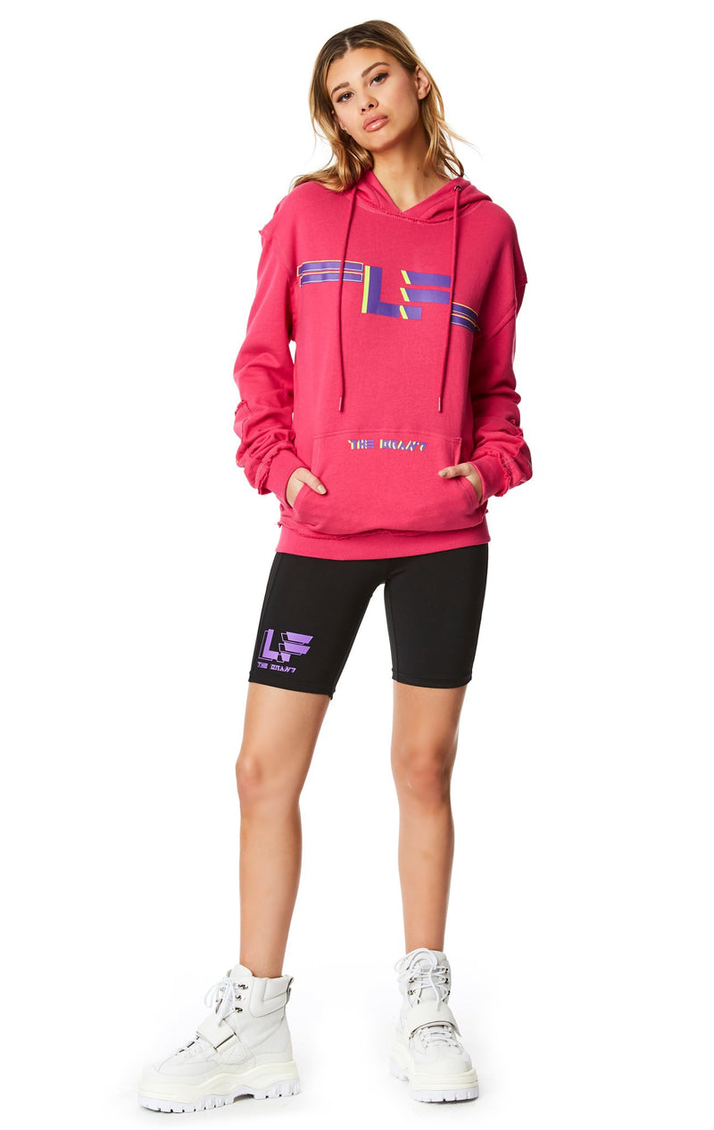 PULLOVER SWEATSHIRT WITH SLEEVE INSERT ATTITUDE SHOT