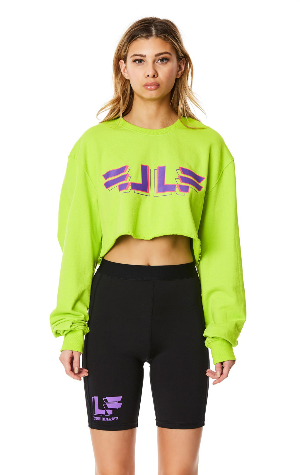 LF THE BRAND CROPPED PULLOVER SWEATSHIRT  FRONT