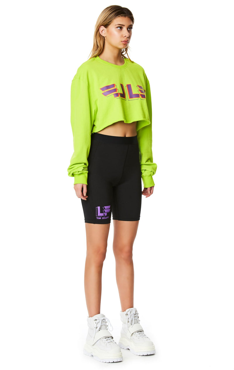 LF THE BRAND CROPPED PULLOVER SWEATSHIRT ANGLED