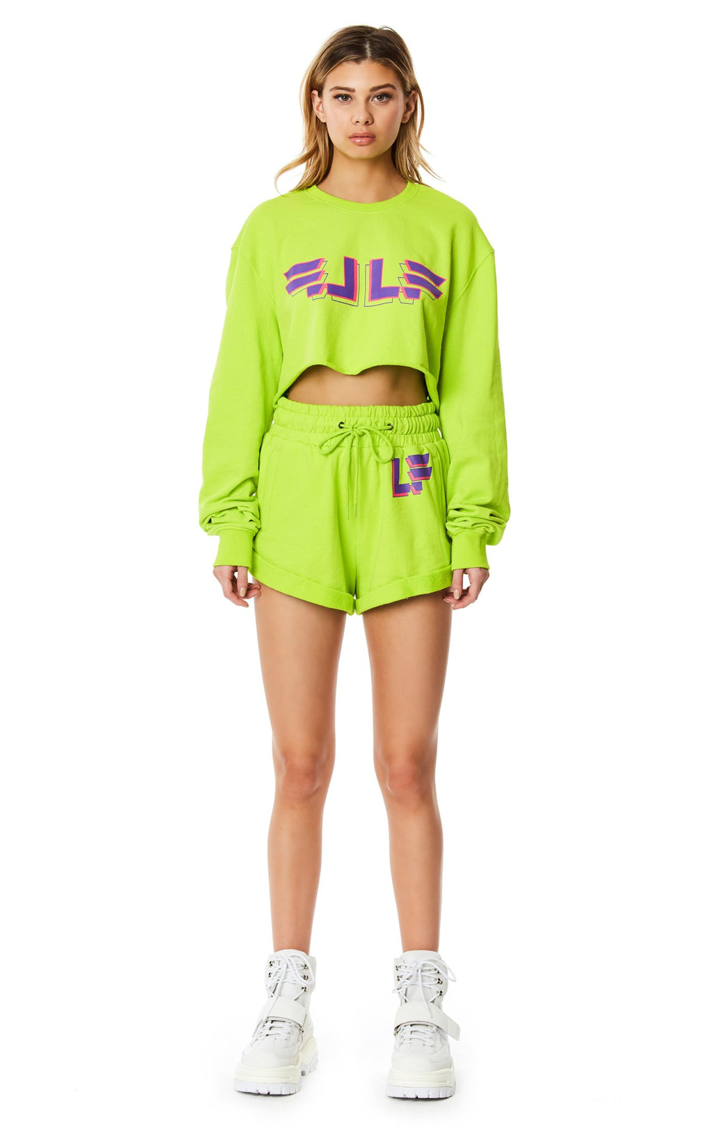 LF THE BRAND HIGH-RISE SWEAT SHORT FULL FRONT