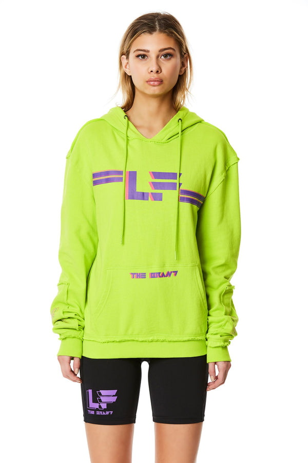 PULLOVER SWEATSHIRT WITH SLEEVE INSERT FRONT