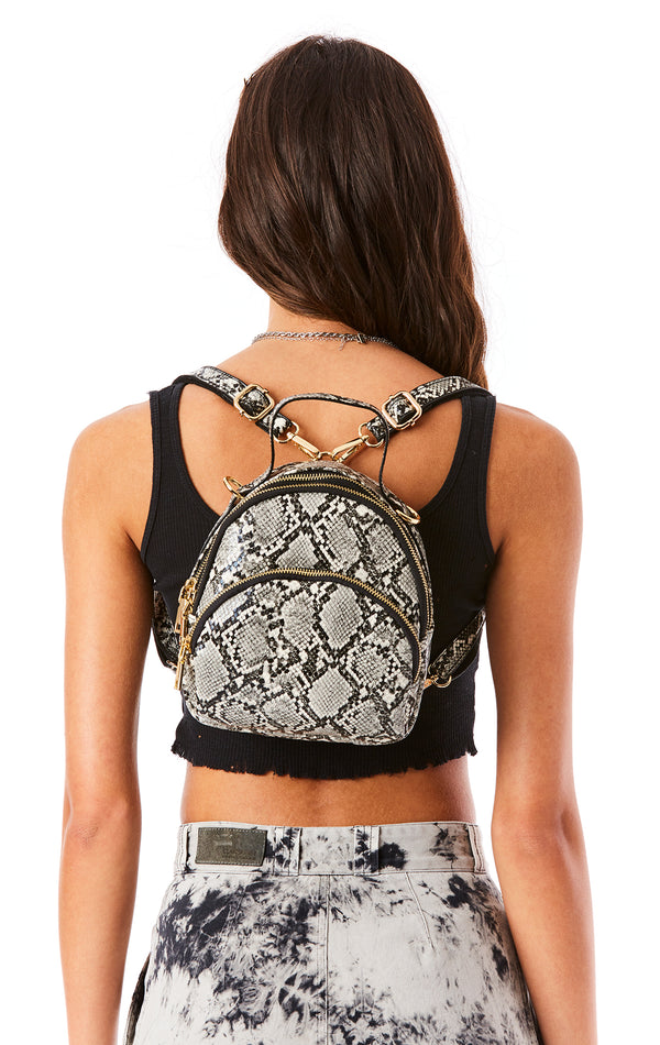 NICHOLE MINI SNAKE BACKPACK