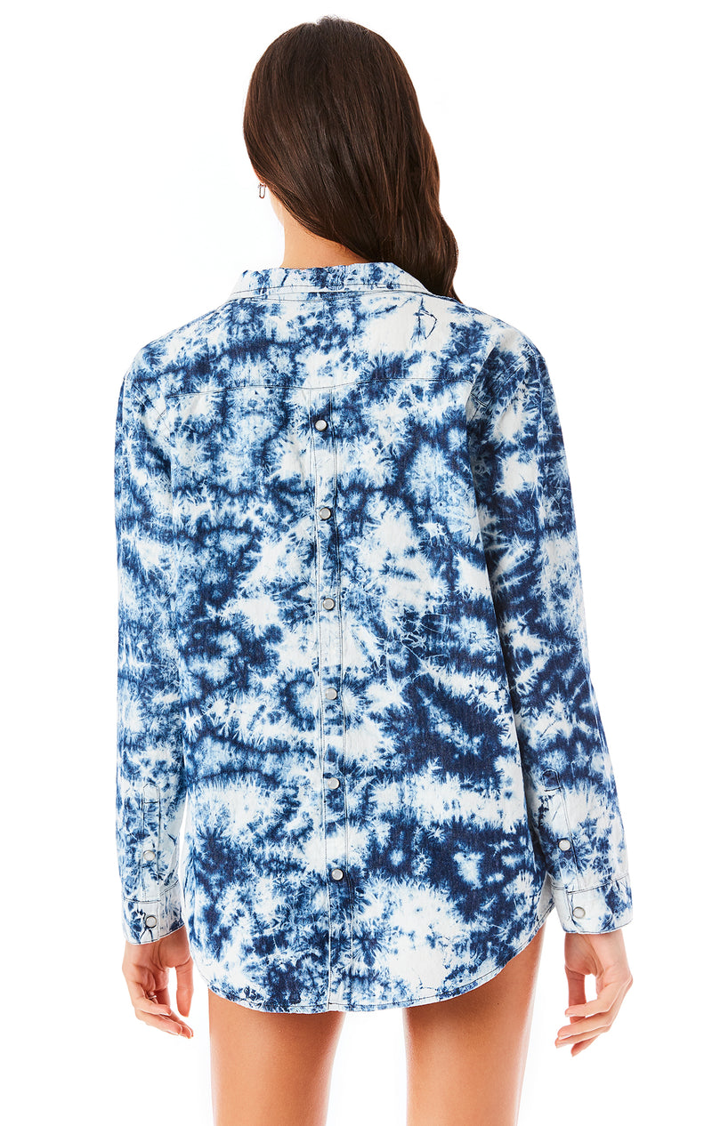 CRYSTAL TIE DYE CHAMBRAY