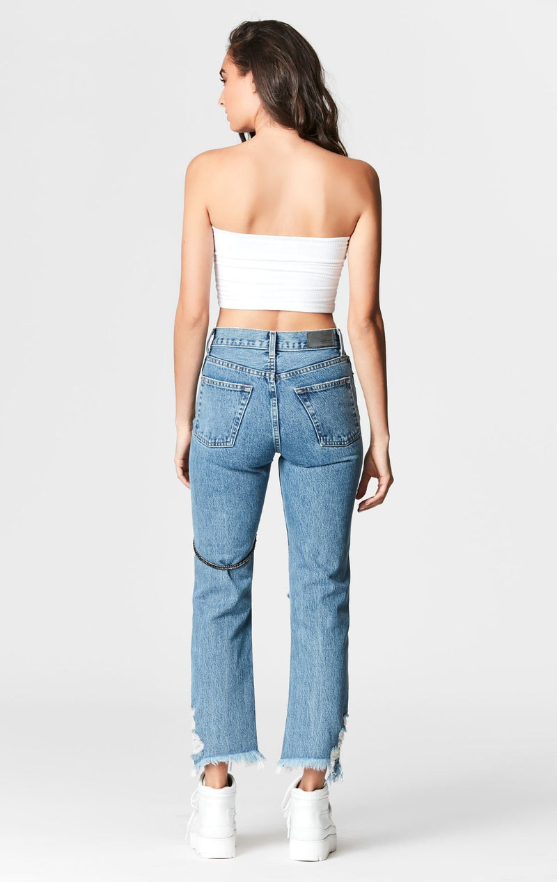 CARMAR DENIM MARZ EMELIA CHAIN HARNESS JEAN BACK
