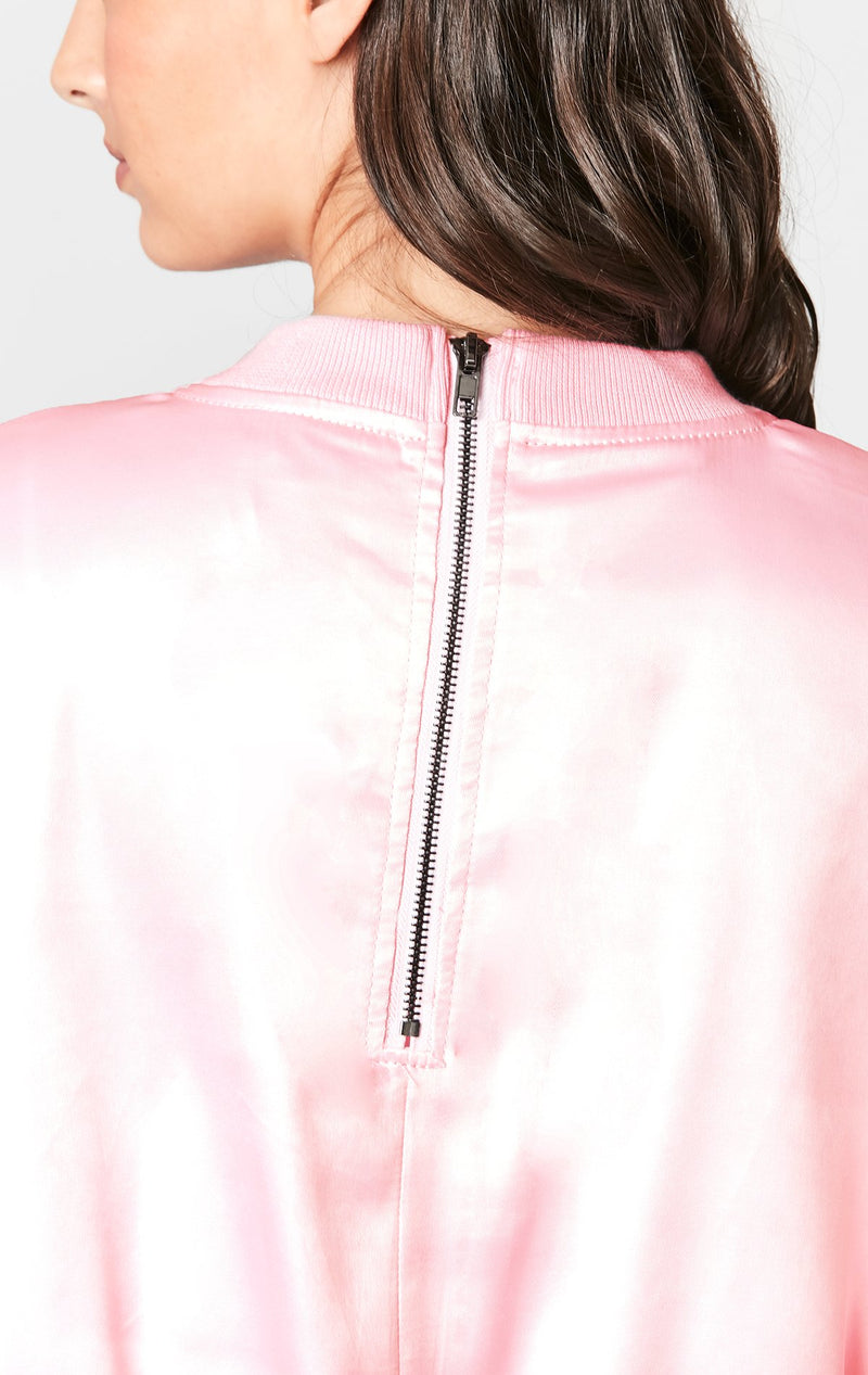 CARMAR DENIM SATIN CARGO BOMBER BACK DETAIL
