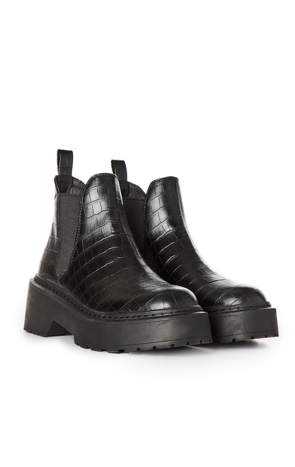 SHADOW CROCODILE CHELSEA BOOT