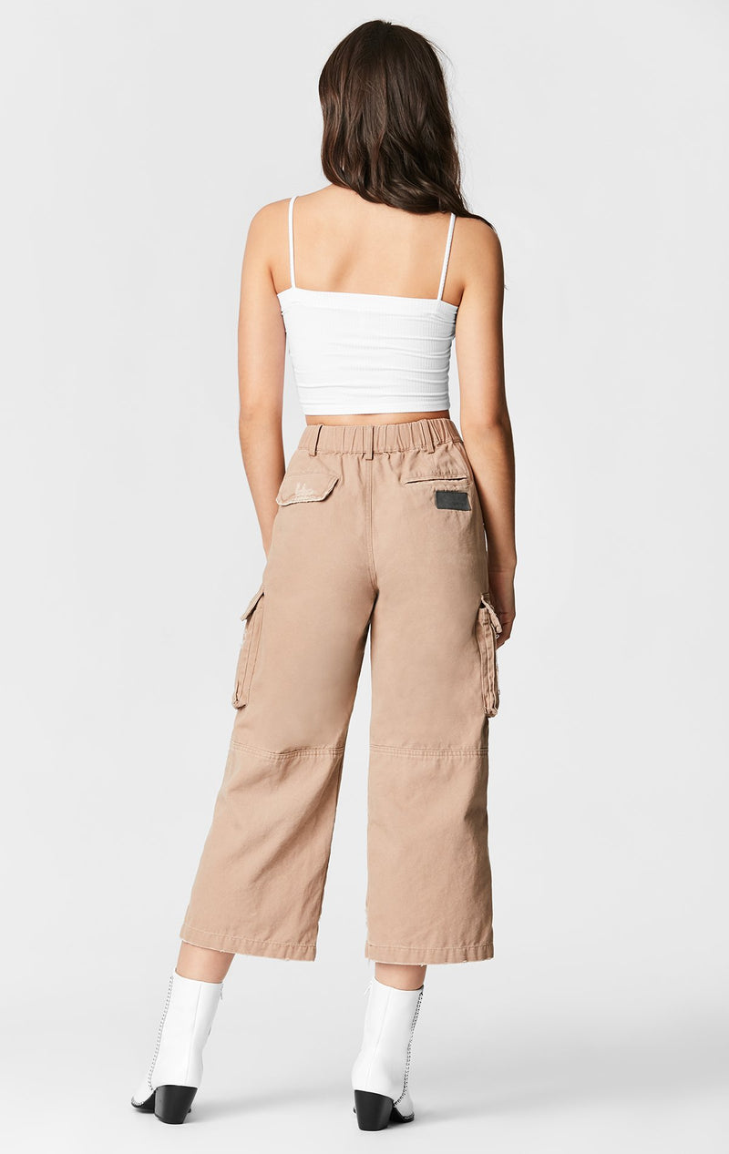 CARMAR DENIM WIDE LEG CARGO POCKET PANT BACK