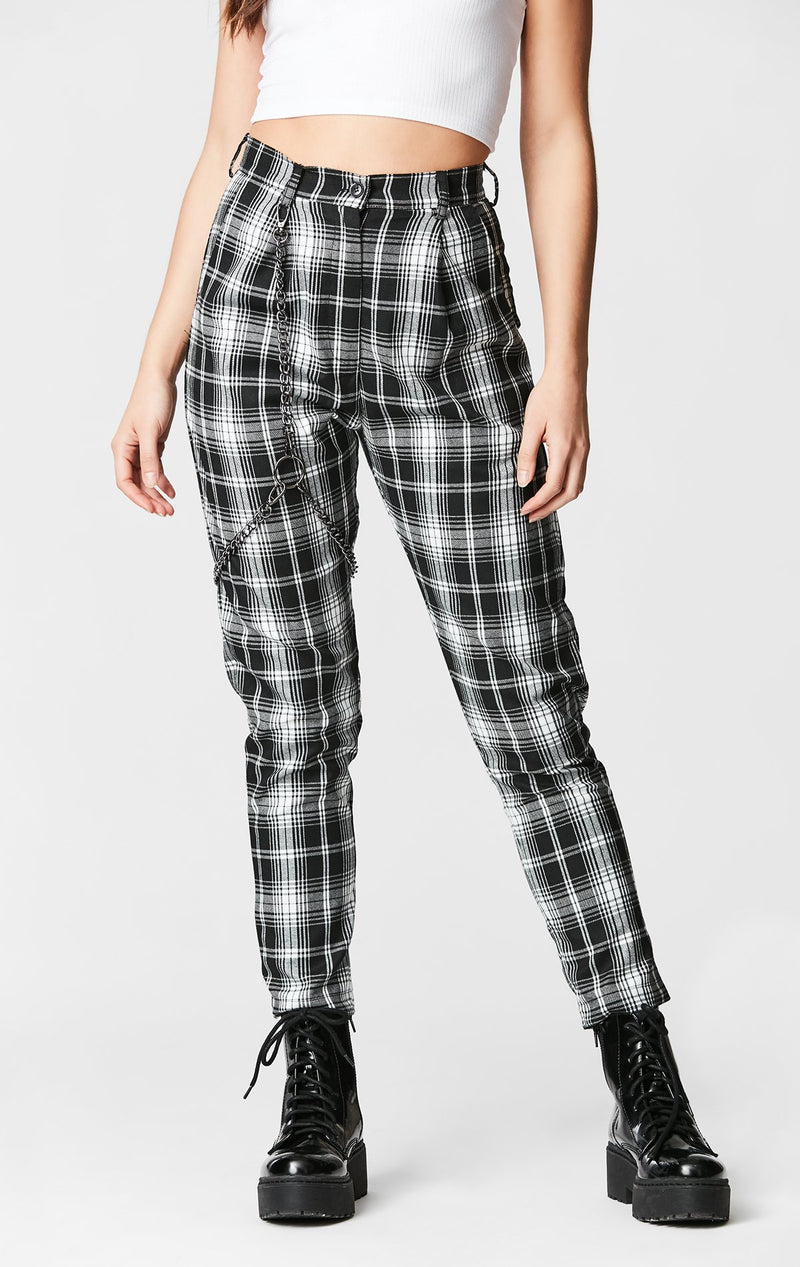 MAGS & PYE PLAID HARNESS PANT FRONT