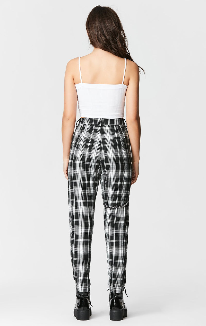 MAGS & PYE PLAID HARNESS PANT BACK