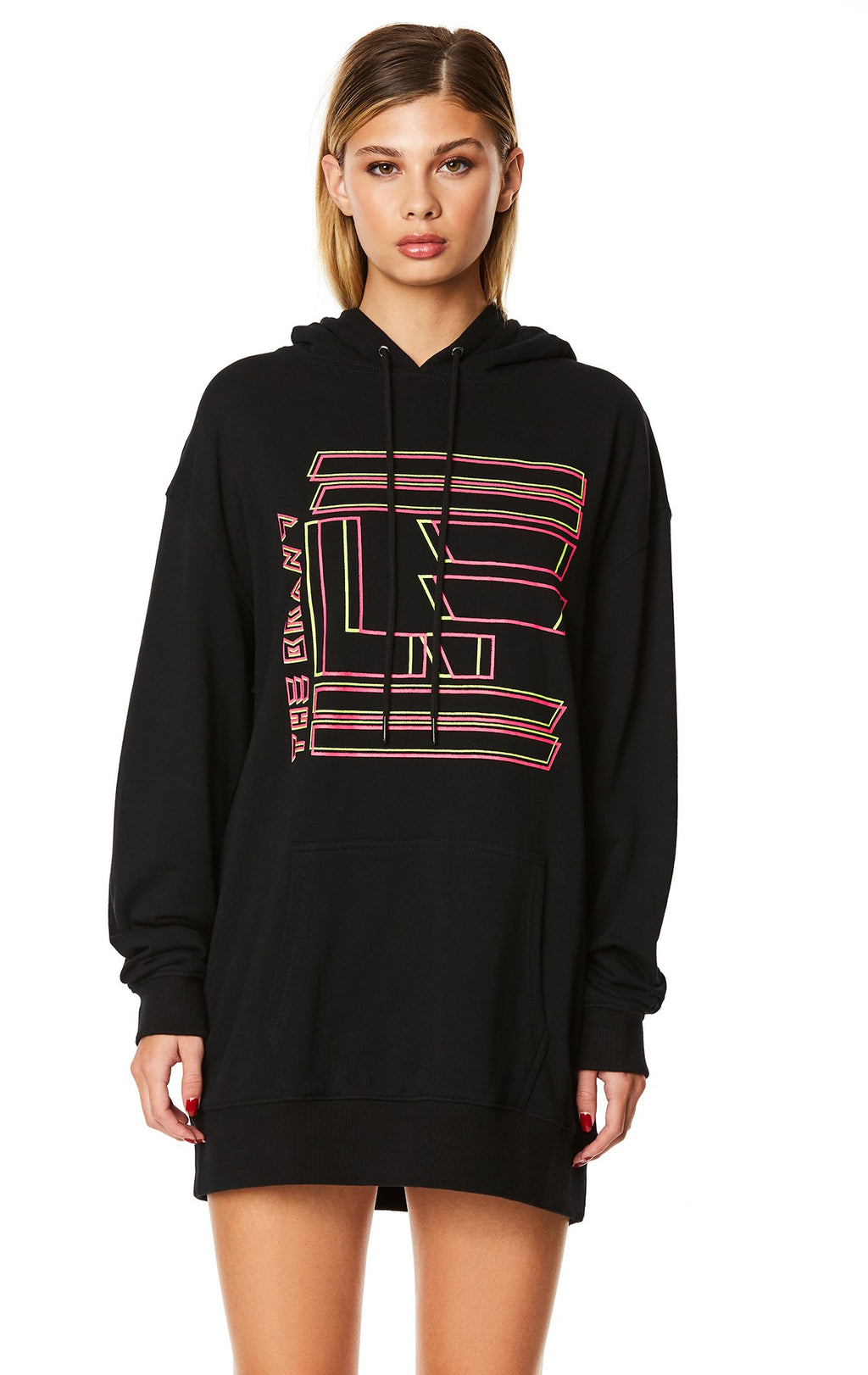 LF THE BRAND HOODED SWEATSHIRT DRESS CROP FRONT