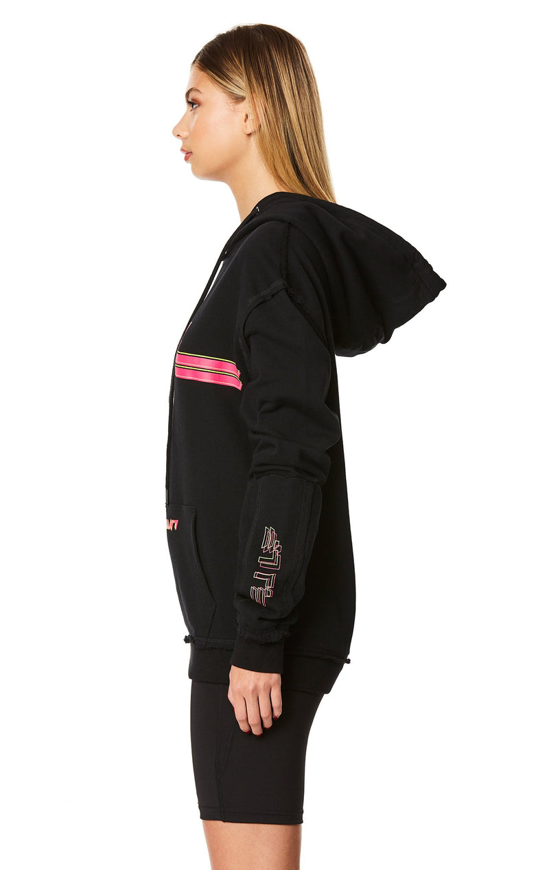 PULLOVER SWEATSHIRT WITH SLEEVE INSERT SIDE