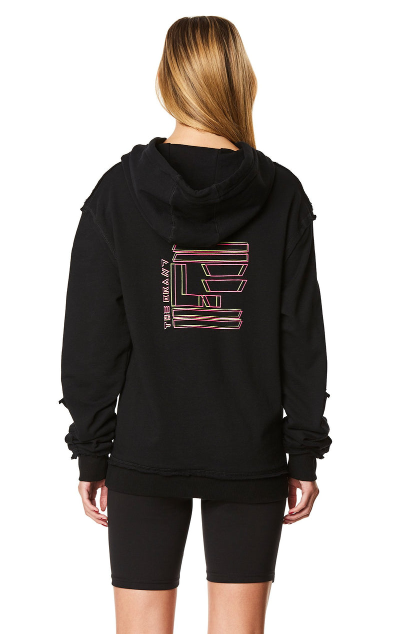 PULLOVER SWEATSHIRT WITH SLEEVE INSERT BACK