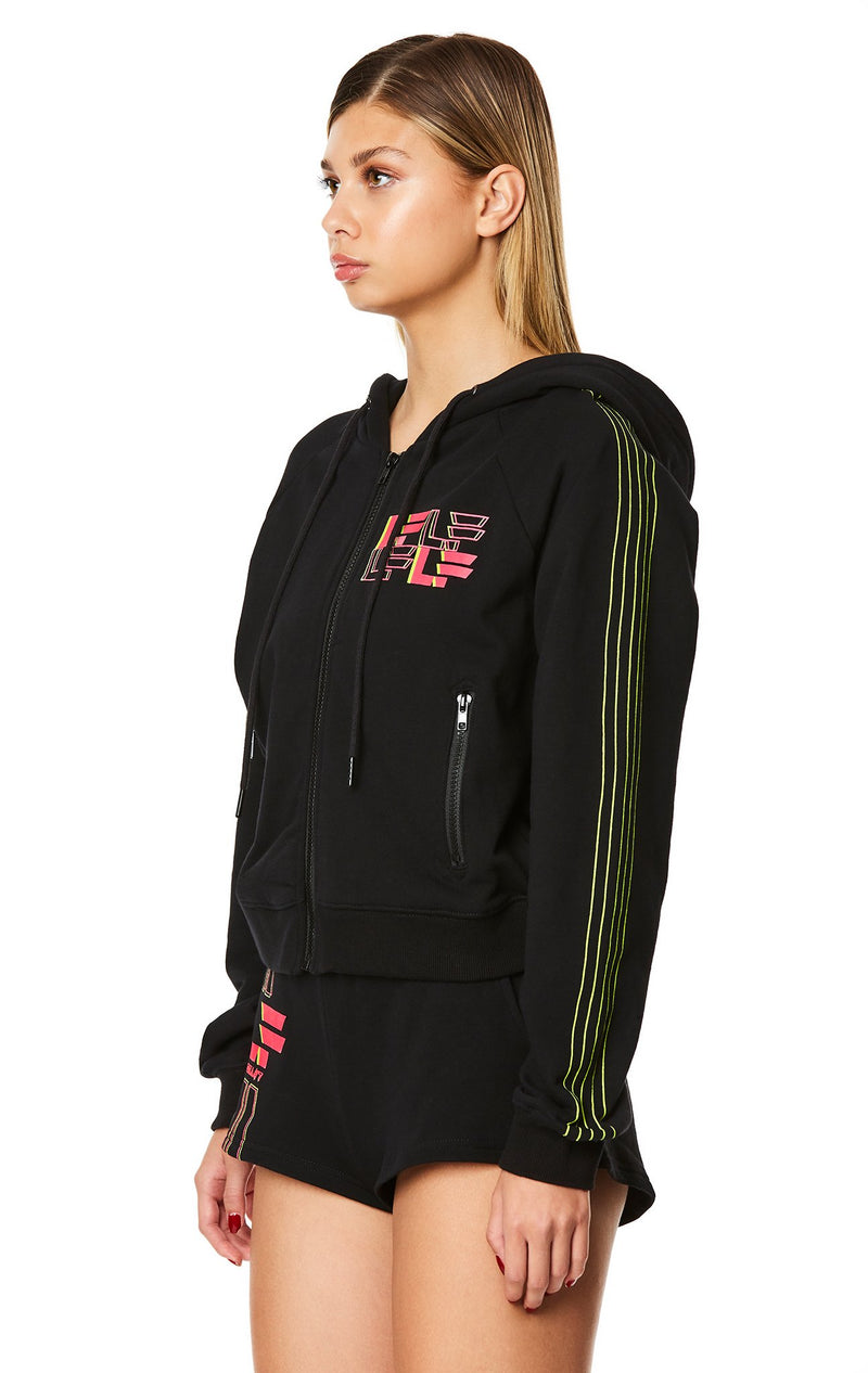 ZIP FRONT LF LOGO HOODIE ANGLE