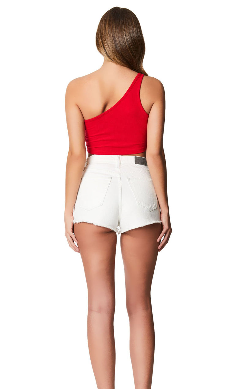 Emma & Sam: ONE SHOULDER RING CROP TANK - NOVELTY TANK