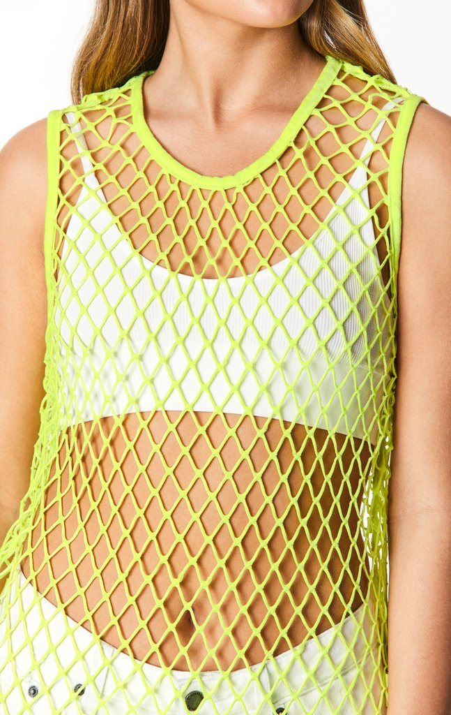 NETTING SLEEVELESS TEE