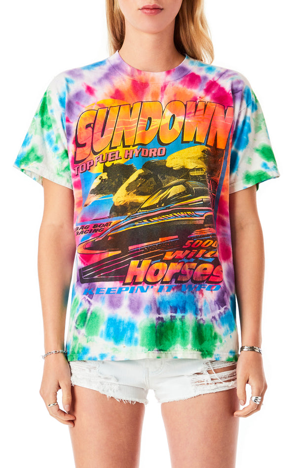 VINTAGE SLIM FIT TIE DYE T-SHIRT