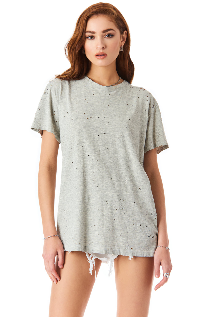RECYCLED COTTON OVERSIZED STONE WASHED T-SHIRT