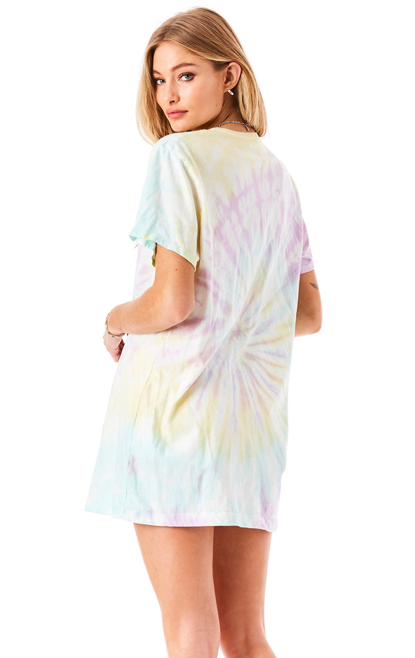FIREWORK TIE DYE OVERSIZED T-SHIRT DRESS